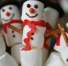 Marshmallow sneeuwpopjes