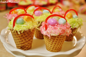 Paasmandje cupcakes