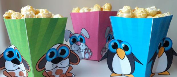 Popcornbakjes van Blijmakertjes (gratis werktekening)
